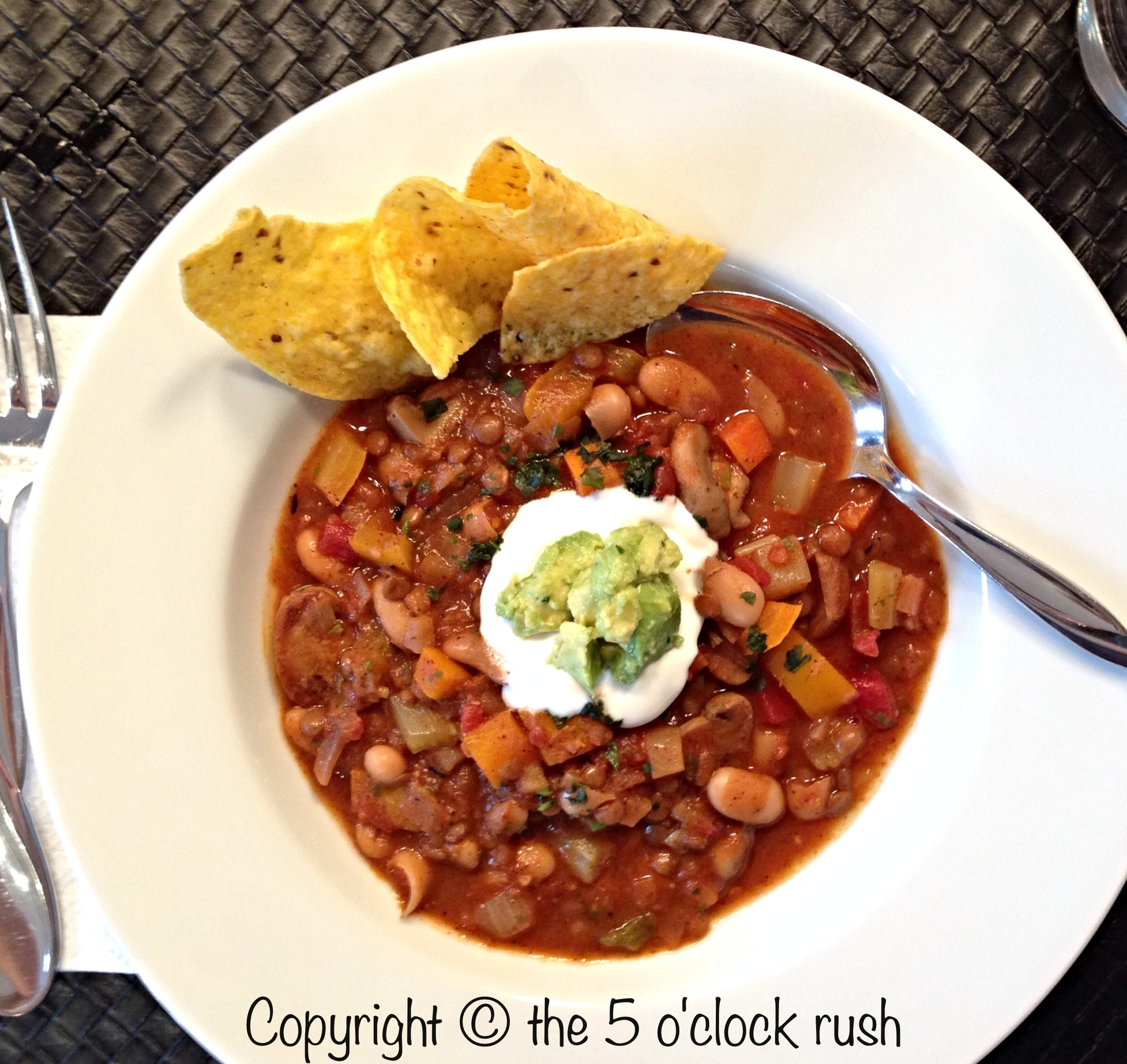 how to make meatless chili
