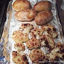 Roasted Cauliflower and Baked Potatoes