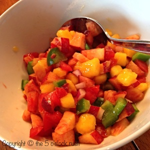 Fresh Peach and Mango Salsa