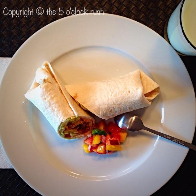 Soft Tacos with Peach and Mango Salsa