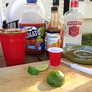 Mise En Place for Caesars at the trailer