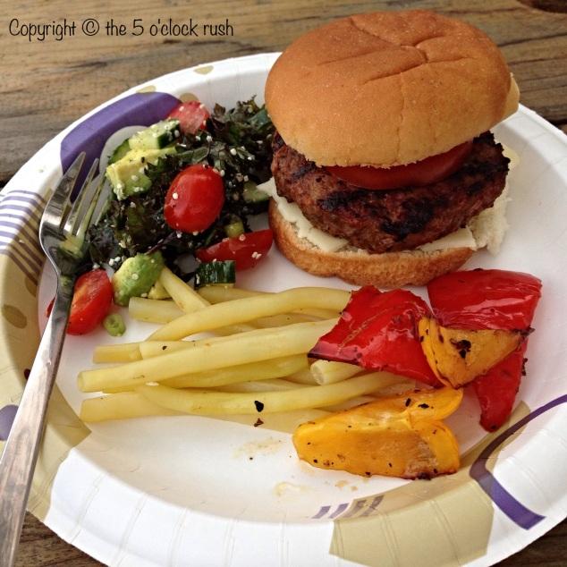 Charcoal Hamburgers at the Trailer