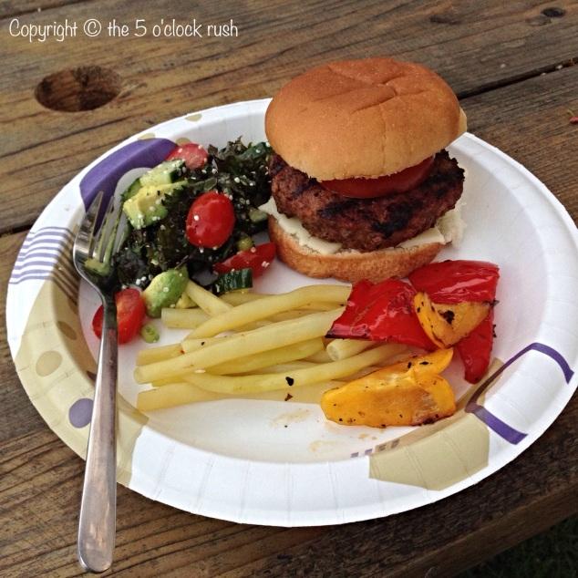Charcoal Hamburgers at the campsite!