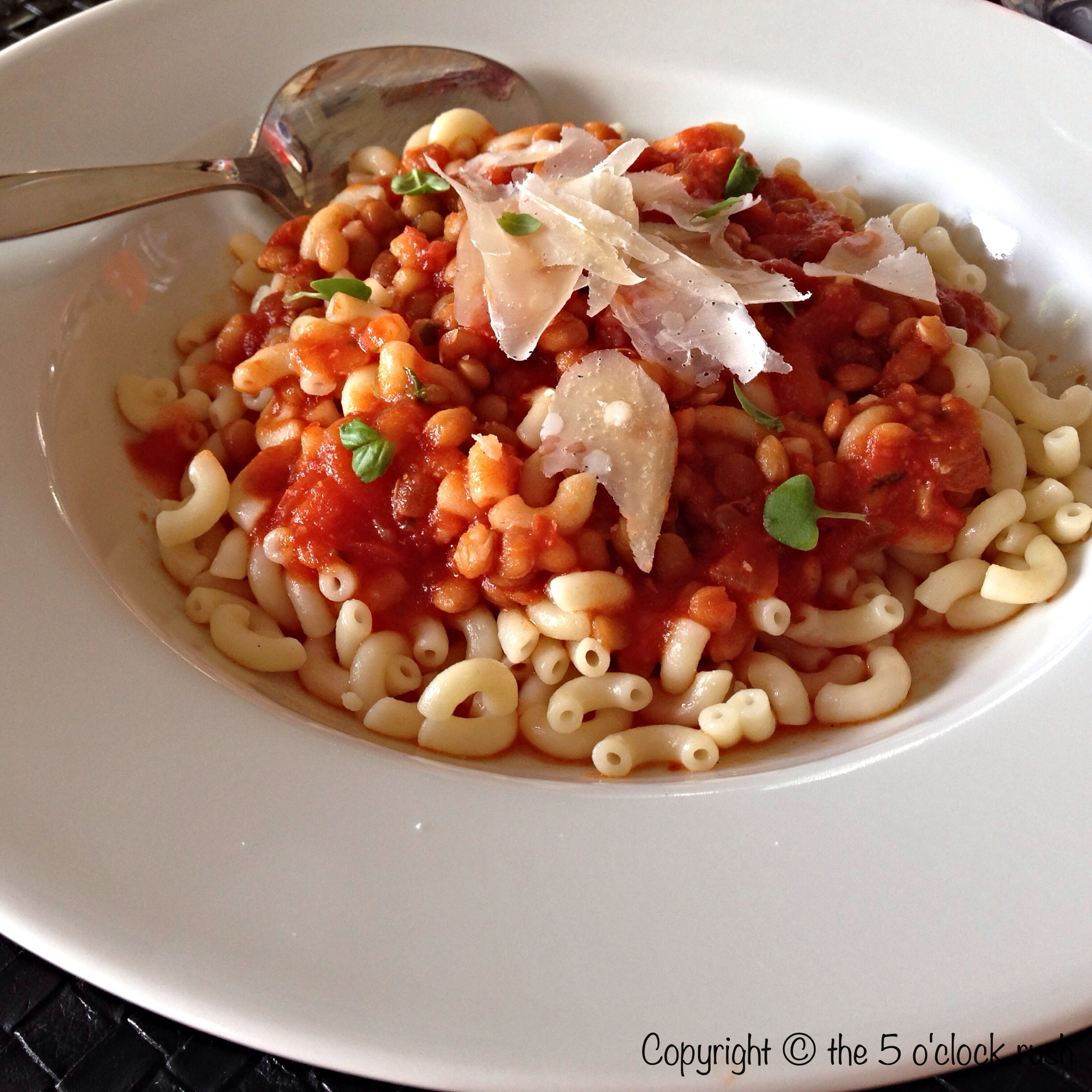 Quick And Easy Elbow Pasta With Lentils