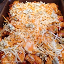 Buffalo Chicken and Loaded Potato Bake