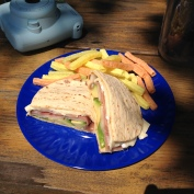 iPhone Prosciutto, Brie, Avocado and Pear Flatout Panini with Veggie Straws