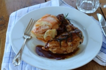 DSLR Pan Fried Chicken Breast with Two Potato Scallop Potatoes