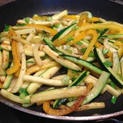 Fried Yellow Peppers and Zucchini Sticks