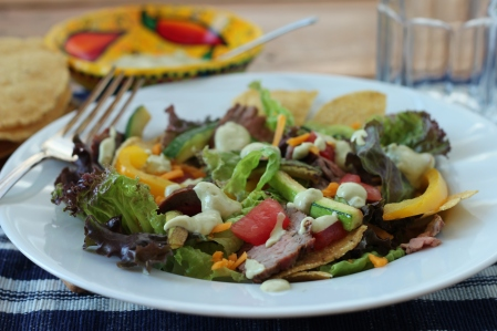 DSLR Flank Steak Salad with Guacamole Dressing