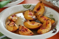 Grilled Ontario Peaches