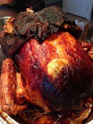 Roasted Turkey with Cheesecloth removed
