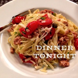 Spaghettini with Capers, Tuna, Grape Tomatoes and Cubanella Peppers