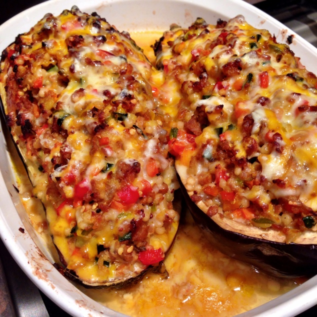 Eggplant Stuffed with Italian Sausage, Couscous and ...