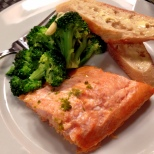 Baked Arctic Char with Steamed Broccoli