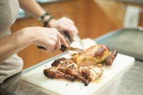 Carving Flatten Chicken