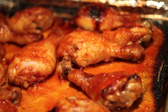 Broiled Maple-Glazed Chicken Legs