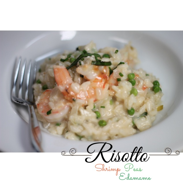 Risotto with Shrimp, Peas, and Edamame