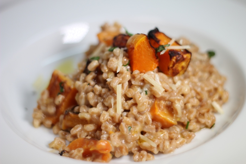 Spelt Risotto with Roasted Butternut Squash