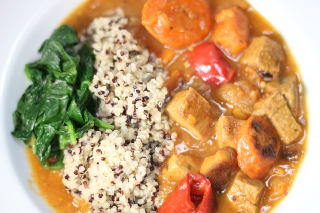 Moroccan Roasted Vegetable And Pork Tenderloin Stew