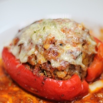 Meat and Vegetarian Stuffed Peppers