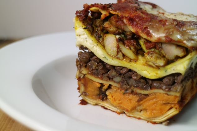 Curry Chicken Lasagna with Lentils