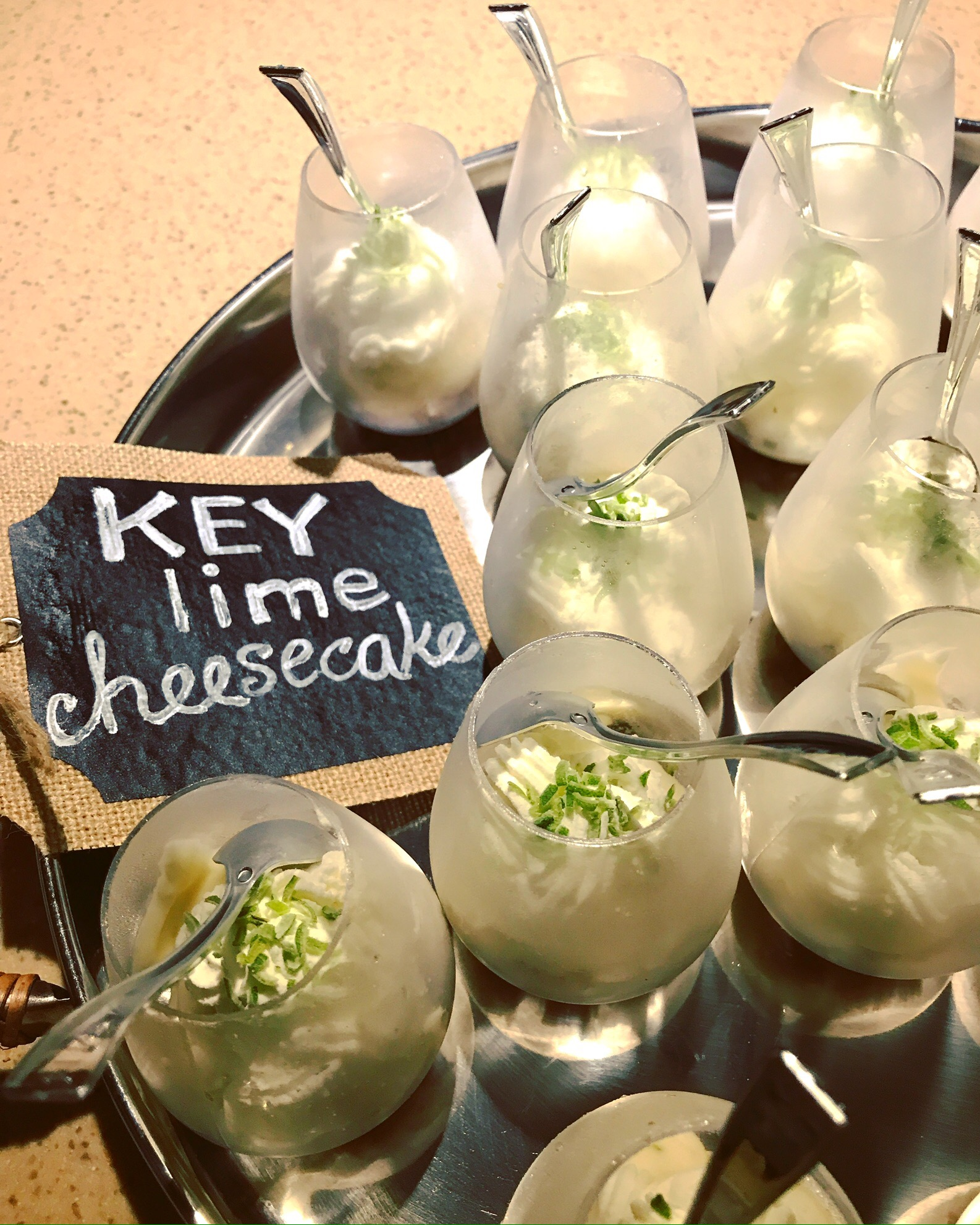 Instagram picture from Nuit Blanche of Mini Frozen Key Lime Cheesecakes