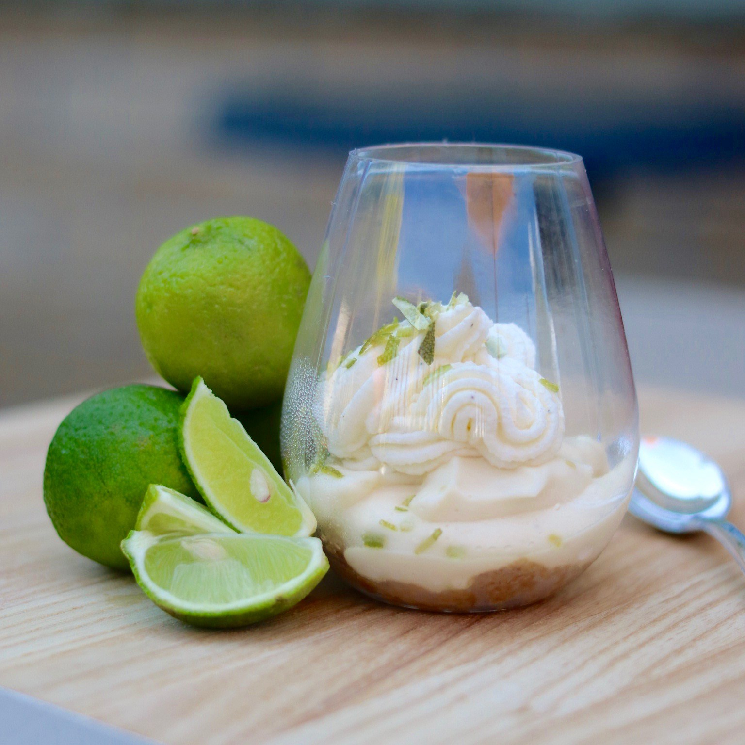 Mini Frozen Key Lime Cheesecake in Dessert Cup