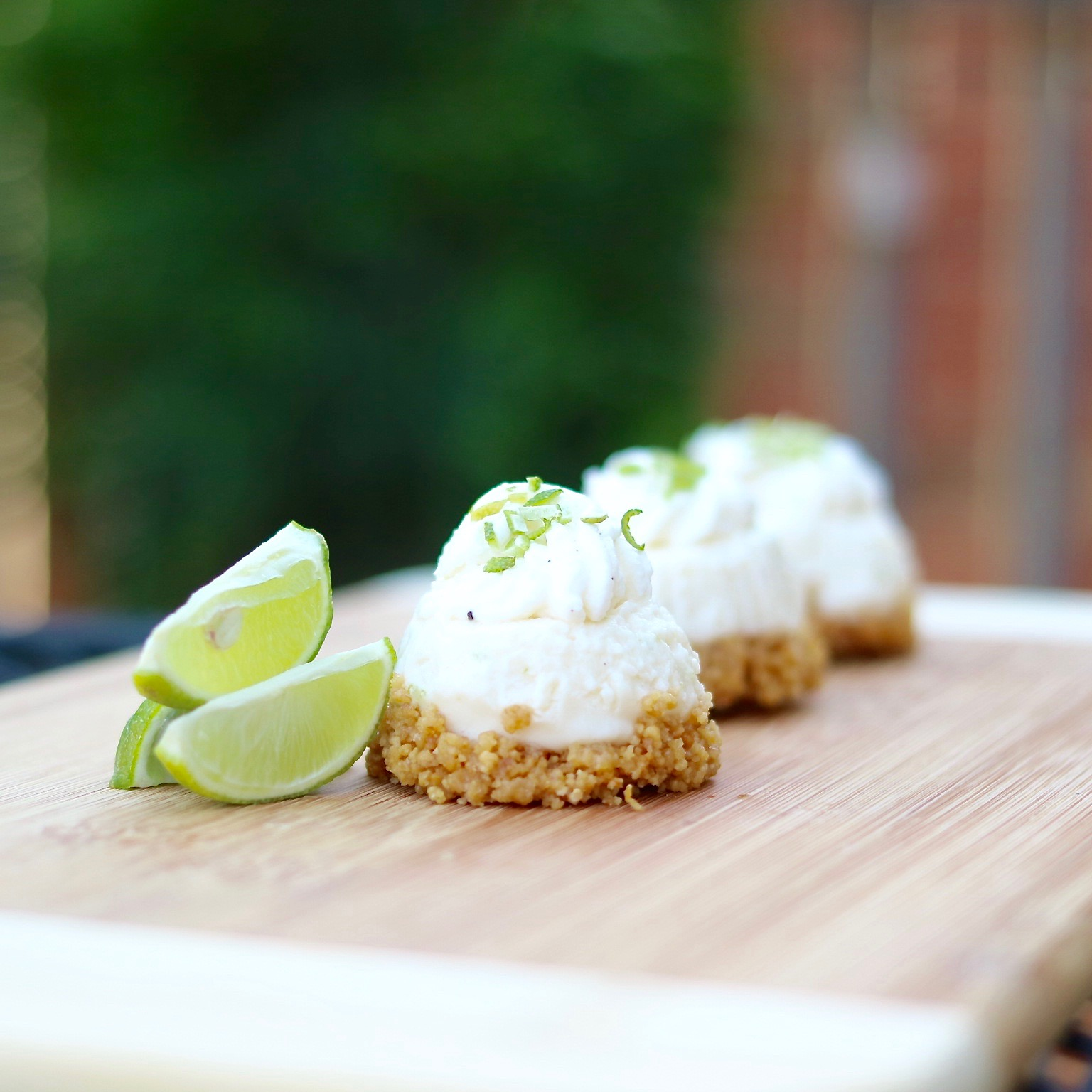 Mini Frozen Key Lime Cheesecakes